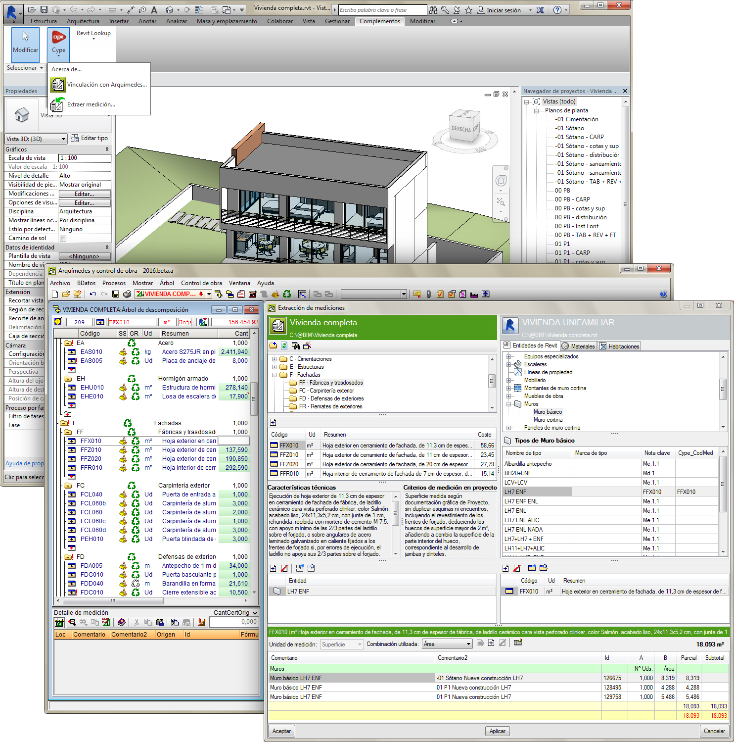 Conexión CYPE Arquimedes Revit, software para trabajar en BIM 5D