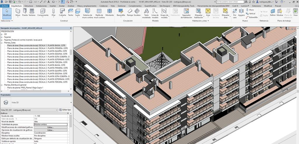 Ejemplo implantación BIM en proyecto viviendas SEYS - REVIT